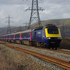 43170+43125 pass Margam working the 16:28 Swansea - London Paddington 22/03/14