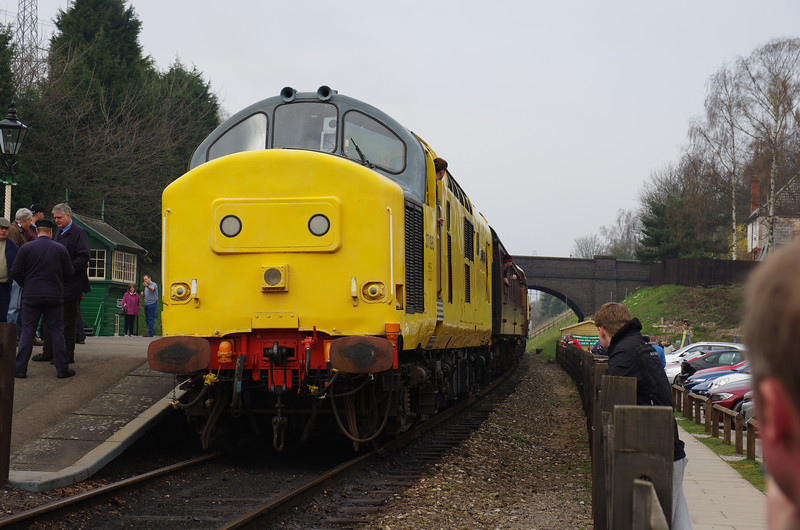 37198 at Rothley working the 14:05 Loughborough - Leicester North 30/03/14