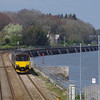 150101 arrives at Starcross working the 13:23 Exmouth - Paignton 21/04/14