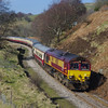 66250 heads back down from Cwmbargoed working UK Railtours 13:15 Cwmbargoed - Tower Colliery still running 40 minutes late 09/03/14