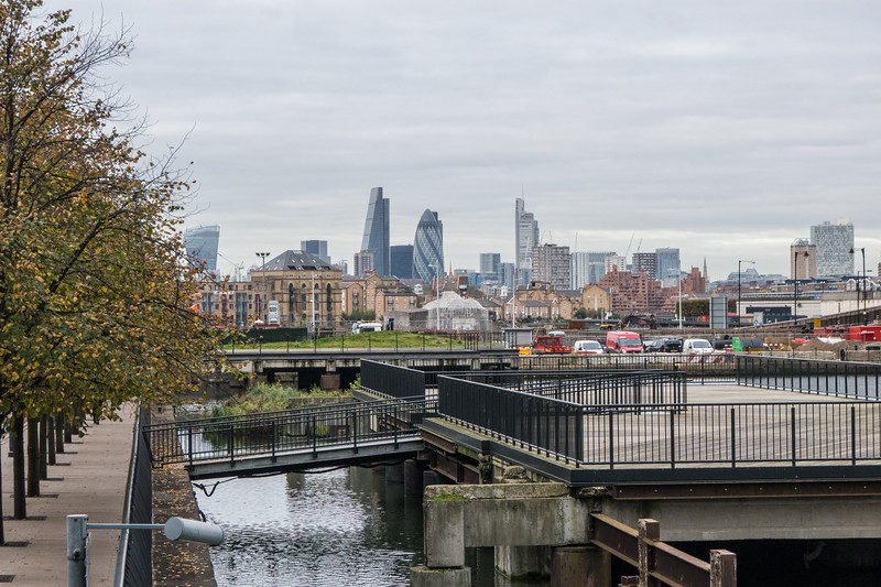 View to The City from Canary Wharf