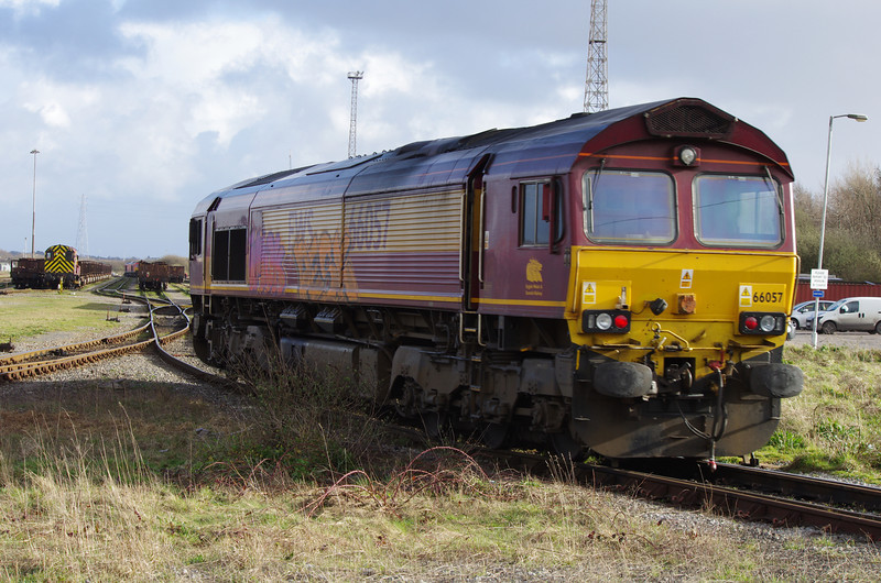 66057 at Margam having had some additions to the livery 22/03/14