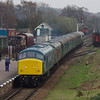 45041 + D123 arrive at Quorn & Woodhouse working the 17:01 Rothley - Louchborough 30/03/14