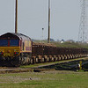 66122 arrives in Margam Yard with the 10:22 Corby Steel Works - Margam Yard 18/03/14