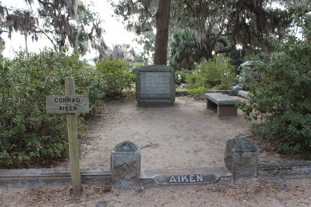 Conrad Aiken grave at Bonaventure Cemetery