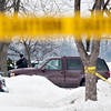 Matt Grotto - For Shaw Media<br /> <br /> Police officers work at the scene where two women were shot in the 300 block of Emery Avenue in Romeoville, Ill., Thursday, Feb. 13, 2014.