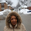 Rob Winner – rwinner@shawmedia.com<br /> <br /> Des Plaines Garden Homes resident Cynthia Pitchford takes her daily walk through the public housing development in Joliet, Ill., Thursday, Feb. 20, 2014. Pitchford has lived in public housing for 32 years, including seven years at her Des Plaines Garden Homes.