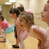 Rob Winner – rwinner@shawmedia.com<br /> <br /> Annika Anderson (second from right), 4,  practices a dance with her classmates during a Pre Ballet 1 class at the Plainfield Park District on Thursday, Feb. 20, 2014.