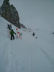 Hiking up to Headwall in Jackson Hole.