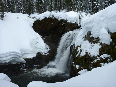 Moose Falls in Yellowstone National Park.