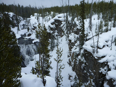 Kepler Cascades in Yellowstone National Park.