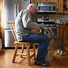 Rob Winner – rwinner@shawmedia.com<br /> <br /> Big Run Wolf Ranch owner John Basile feeds his five-month-old Siberian tiger, Shere Khan, in his kitchen in Lockport, Ill., Wednesday, March 5, 2014.