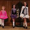 Rob Winner – rwinner@shawmedia.com<br /> <br /> Dancers Erin Ardaugh (from left to right), 8, Sarah Cousins, 12, and Kaitlyn Robertson, 13, of Keigher Academy of Irish Dance perform for a senior group at Al's Steak House in Joliet, Ill., Thursday, March 13, 2014.