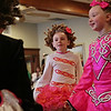 Rob Winner – rwinner@shawmedia.com<br /> <br /> Dancers Shayleigh McNichols (center), 7, and Erin Ardaugh, 8, of Keigher Academy of Irish Dance perform for a senior group at Al's Steak House in Joliet, Ill., Thursday, March 13, 2014.