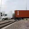 Rob Winner – rwinner@shawmedia.com<br /> <br /> A tractor-trailer crosses the railroad tracks after turning onto Walter Strawn Drive from Route 53 in Elwood, Ill., Tuesday, March 25, 2014.