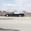 Rob Winner – rwinner@shawmedia.com<br /> <br /> A hearse travels southbound on Route 53 while traveling to Abraham Lincoln National Cemetery in Elwood, Ill., Tuesday, March 25, 2014.