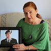 Rob Winner – rwinner@shawmedia.com<br /> <br /> Denise Meehan of Plainfield holds a photograph of her son, Army Pfc. Andrew Meari, who was killed in a bomb blast while serving in Afghanistan November 2010.