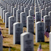 Rob Winner – rwinner@shawmedia.com<br /> <br /> Flags are placed at each grave at Abraham Lincoln National Cemetery ahead of Monday's Memorial Day event in Elwood.<br /> <br /> Friday, May 23, 2014<br /> Elwood, Ill.