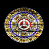 John Patsch - For Shaw Media<br /> The rose window in Grace Episcopal Church is painted glass.