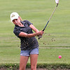 John Patsch for Shaw Media<br /> <br /> Karen Juricic hits out of the sand on the 10th hole in the Junior JPS tournament.