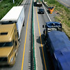 Rob Winner – rwinner@shawmedia.com<br /> <br /> Traffic reduced to one lane each way is seen just south of the Des Plaines River bridge on Interstate 55 Tuesday, July 22, 2014.