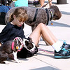 John Patsch-For Shaw Media<br /> Jaimi Curtis from Chanahon and her dog, Rosie, wait for the opening of the new dog park in the Rock Run Access on KcClintock Road.