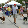 Christine Muilenburg - For Shaw Media   Scott and Lynn Jele of Naperville, enjoying a stroll with their dogs Ransom and Elsie, during Plainfield Fest on Saturday, July 19, 2014.  Plainfield Fest continues Sunday, July 20, 2014.