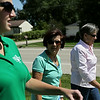 Rob Winner – rwinner@shawmedia.com<br /> <br /> (From left to right) Workers at the Grundy County Administration building, including Stacy McCarthy, Paula Goodwin and Jean Koerner, take a walk along Union Street in Morris for exercise Friday, Aug. 15, 2014.