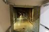 Tunnel leading into generator room.