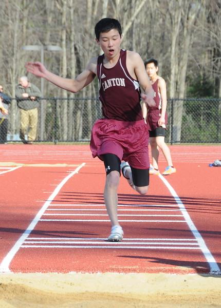 2014-04-09 Outdoor Track Canton VS Stafford V (109) Long Jump Noah Wyatt