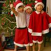 2005-12-16 WYNOEL Christmas in Santa Hats and Shorts Wyatt Noah Elise