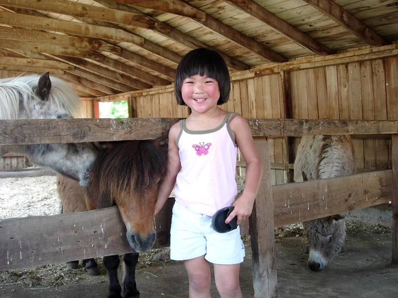 2005-06-04 Elise With Horse At Flemig Farm