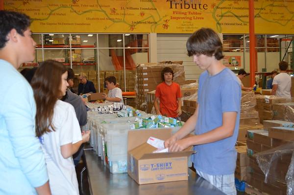 7th & 8th Grade at North Texas Food Bank