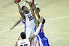 PHILADELPHIA - NOVEMBER 17:Temple Owls forward Mark Williams (10) goes up for a shot in the lane over a La Tech defender during the NCAA basketball game November 17, 2014 in Philadelphia.