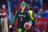 PHILADELPHIA - FEBRUARY 10:  A Temple fan dressed in a dragon costume competes in a promotion during the AAC conference college basketball game January 10, 2015 in Philadelphia.