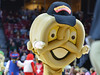 PHILADELPHIA - FEBRUARY 14: The Super Pretzel mascot makes an appearance at the AAC conference college basketball game January 14, 2015 in Philadelphia.