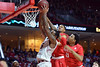 PHILADELPHIA - FEBRUARY 26: Temple Owls forward Jaylen Bond (15) fights off Houston Cougars guard LeRon Barnes (4) for a rebound during the AAC conference college basketball game  February 26, 2015 in Philadelphia.