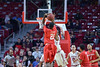 PHILADELPHIA - FEBRUARY 26:  Houston Cougars guard Jherrod Stiggers (21) shoots over a Temple defender during the AAC conference college basketball game  February 26, 2015 in Philadelphia.