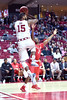 PHILADELPHIA - FEBRUARY 26: Temple Owls forward Jaylen Bond (15) leaps to try to save a ball from going out of bounds during the AAC conference college basketball game  February 26, 2015 in Philadelphia.