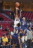 PHILADELPHIA - NOVEMBER 14:  Temple Owls guard Tyonna Williams (23) takes a contested jump shot during the season opening ladies basketball game against LaSalle November 14, 2014 in Philadelphia.