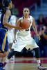 PHILADELPHIA - NOVEMBER 14:  Temple Owls guard Feyonda Fitzgerald (2) plays defense during the season opening ladies basketball game against LaSalle November 14, 2014 in Philadelphia.