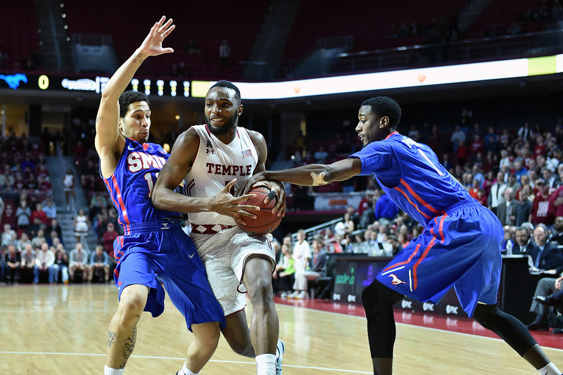 NCAAM Basketball 2015 -  SMU Mustangs beat Temple Owls 60-55.