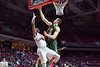 PHILADELPHIA - JANUARY 22: South Florida Bulls forward/center Ruben Guerrero (33) blocks a shot by Temple Owls guard Will Cummings (2) during the AAC conference college basketball game January 22, 2015 in Philadelphia.