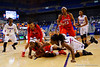 Florida Gators guard January Miller dives for a loose ball during the second half.  Florida Gators Womens Basketball vs Georgia Bulldogs.  February 28th, 2015. Gator Country photo by David Bowie.
