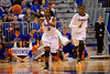 Florida Gators guard January Miller passes up court during the first half.  Florida Gators Womens Basketball vs Georgia Bulldogs.  February 28th, 2015. Gator Country photo by David Bowie.