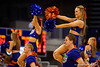 The Florida Gator cheerleaders cheer on for the fans during the second half.  Florida Gators Womens Basketball vs Georgia Bulldogs.  February 28th, 2015. Gator Country photo by David Bowie.