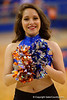 A Florida Gators Dazzler poses for the camera.  Florida Gators Womens Basketball vs Georgia Bulldogs.  February 28th, 2015. Gator Country photo by David Bowie.