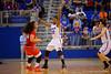 Florida Gators forward Kayla Lewis back on defense during the first half.  Florida Gators Womens Basketball vs Georgia Bulldogs.  February 28th, 2015. Gator Country photo by David Bowie.