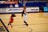 Florida Gators guard Cassie Peoples scores on a breakaway during the second half.  Florida Gators Womens Basketball vs Georgia Bulldogs.  February 28th, 2015. Gator Country photo by David Bowie.