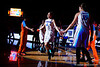 Florida Gators guard Carlie Needles takes the floor during player introductions.  Florida Gators Womens Basketball vs Georgia Bulldogs.  February 28th, 2015. Gator Country photo by David Bowie.